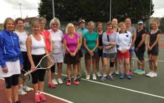 Wells Tennis Club Ladies competing in the presidents ladies shield