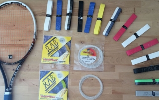 Racket, Strings and Grips