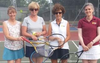 Wells Tennis Club Ladies D team Rowan, Anne, Deborah and Sarah