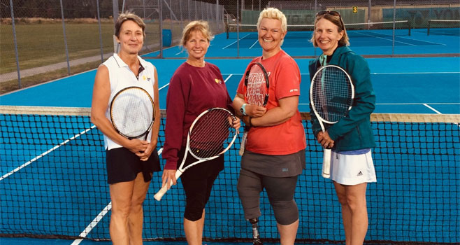 Caroline, Wendy Julia (captain) and Heidi representing our Ladies A team