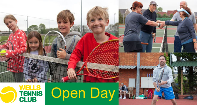 Wells Tennis Club Open Day, Saturday April 23rd
