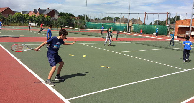 Wells Tennis Club Camps, half term, summer and Tennis for Kids