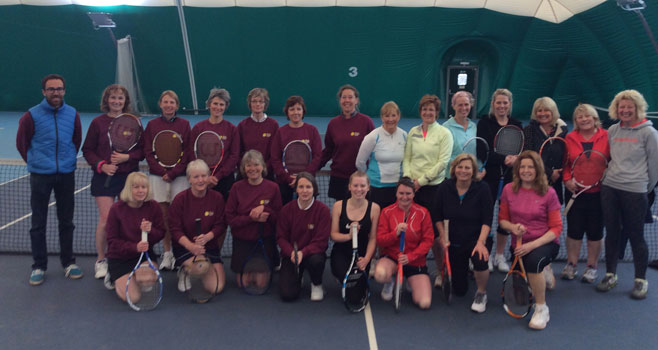 Ladies tennis players from wells tennis club and torquay